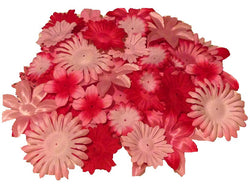 100pcs. Pink Flower Petals-DIY Hair Bows, Flowers for Weddings, etc. - Sparkle For Less