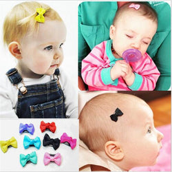 7pcs/lot 2016 Cute Baby Girls Hair Clips Mini Bowknot Hair Accessories Spot Infant Head wear Small Hairpin For Children Barrette
