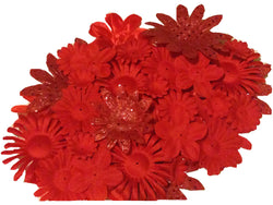 100pcs. Red Flower Petals-DIY Hair Bows, Flowers for Weddings, etc.