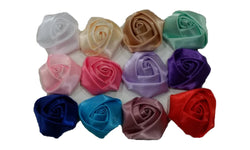 3pcs. Mix Satin Rosette Flower Hair Clips-1.5