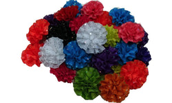 3pcs. Mix Sequence Grosgrain Flower Hair Clips