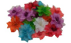 3pcs. Mix Sheer Flower Daisy Hair Clips