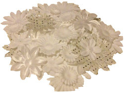 100pcs. White Flower Petals-DIY Hair Bows, Flowers for Weddings, etc.