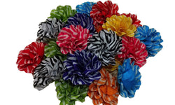 3pcs. Mix Zebra Grosgrain Ribbon Hair Clips