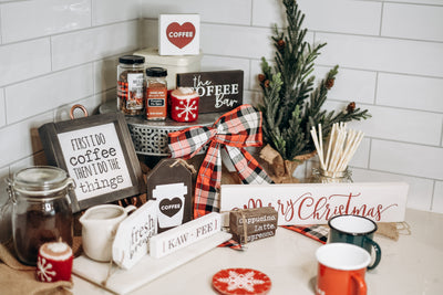 Create a Holiday Inspired Coffee Bar at Home
