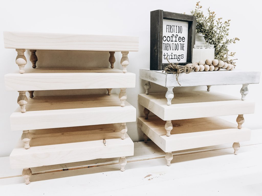Farmhouse Tiered Trays in Canada