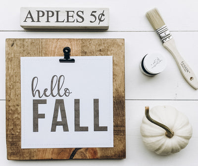 "Free ""Hello Fall"" Printable DIY Project + Recipe"