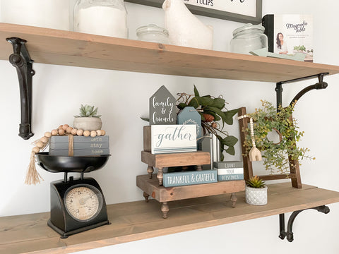 Thanksgiving Tiere Tray Shelf Styling