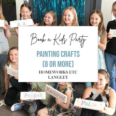 Books a Kids Party, DIY crafts in Langley/Brookswood