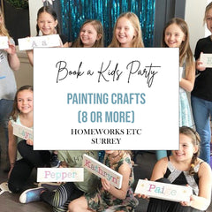 Book a Kids Craft Birthday Paint Party at Homeworks Etc Surrey