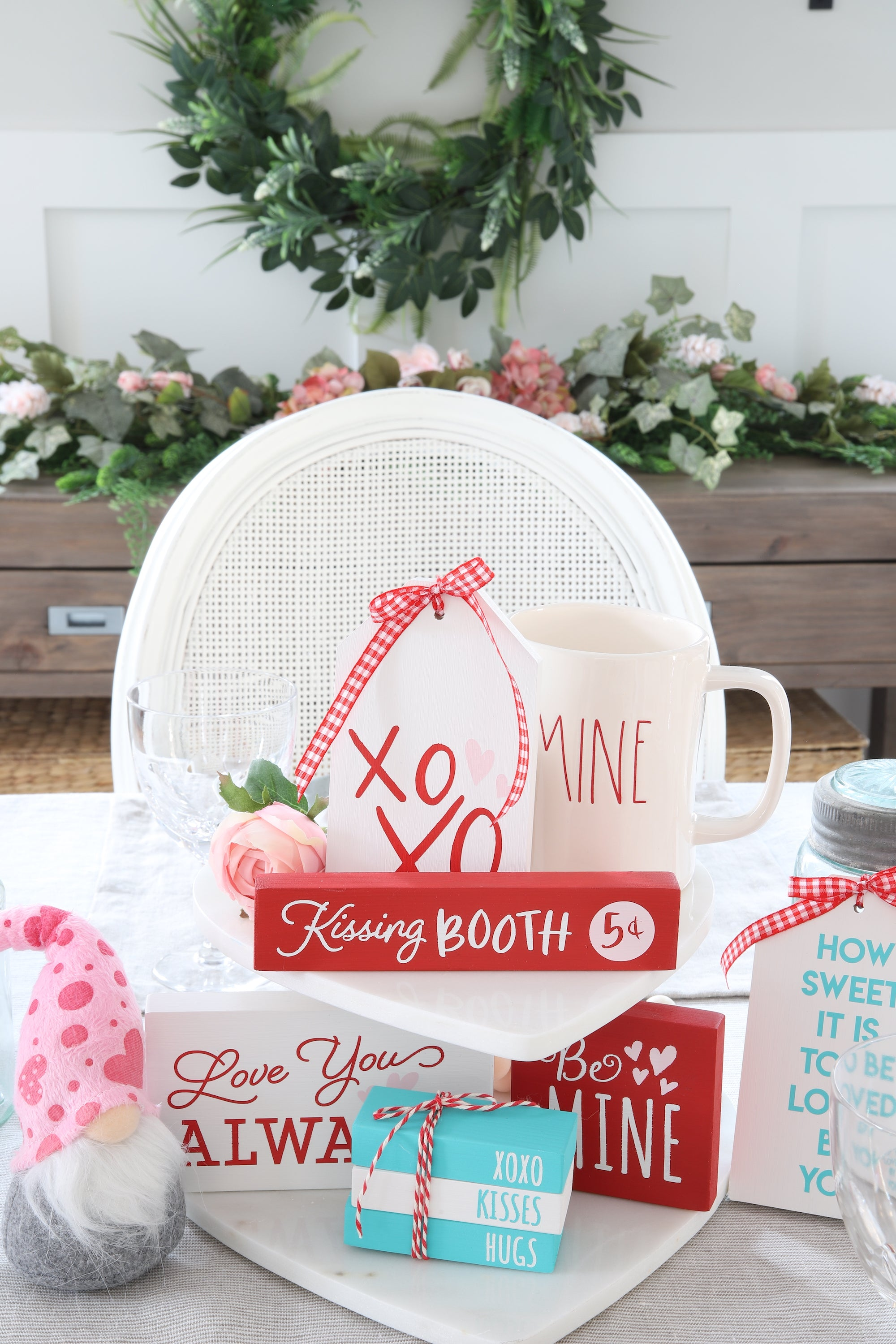 Farmhouse Valentines Day Decorating - Featuring Our New Tiered Tray DIY Kit! - Homeworks Etc.