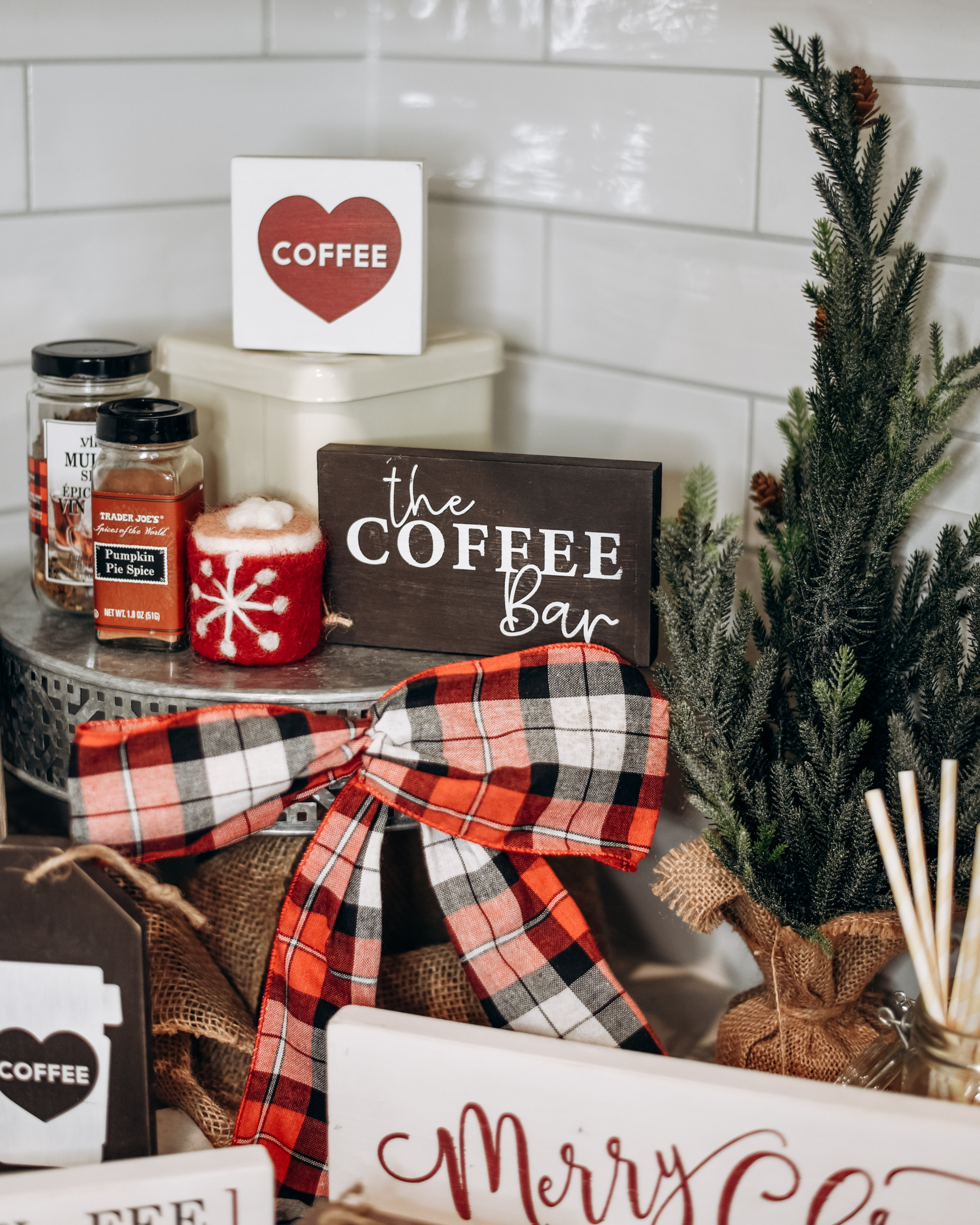 Create A Holiday Inspired Coffee Bar at Home - Homeworks Etc.