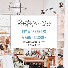 Register for a DIY Paint Workshop, Langley BC