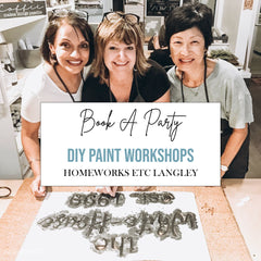 Book a Sign Painting Party, Langley BC, DIY Workshop Classes