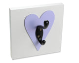 Purple Heart Wall Hook Decorative Girls Room Decor