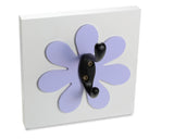 Purple Flower Decorative Wall Hook Girls Room Decor