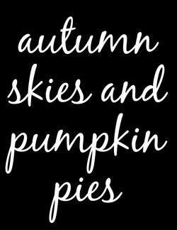Autumn Skies and Pumpkin Pies Vinyl Stencil - Homeworks Etc ®