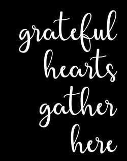 Grateful Hearts Stencil Decal - Homeworks Etc ®