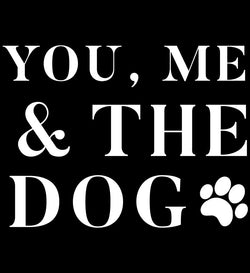 you, me and the dog vinyl stencil decal | Homeworks Etc DIY crafts