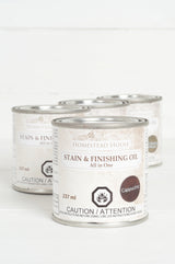 Stain and Finishing Oil ALL-IN-ONE - Cappuccino - Homeworks Etc ®