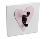 Dark Pink Heart Single Wall Hook