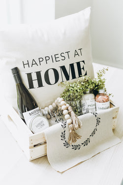 Happiest at Home | Pillow throw cushion - Homeworks Etc ®