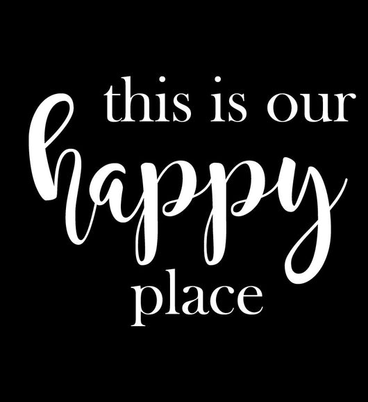 This is Our Happy Place Stencil Decal - Homeworks Etc ®