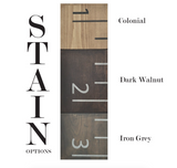 Ruler Wood Growth Chart Stain options | Homeworks Etc Kids