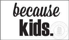 Because Kids. Wine Glass Decal - Homeworks Etc ®