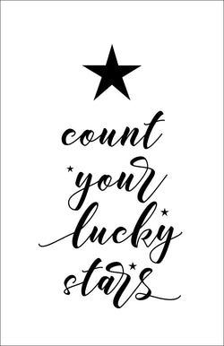 Count your lucky stars Stencil - Homeworks Etc ®