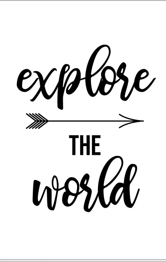 Explore the World Stencil - Homeworks Etc ®