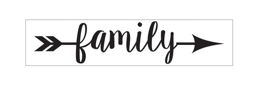 Family (with arrow) Stencil