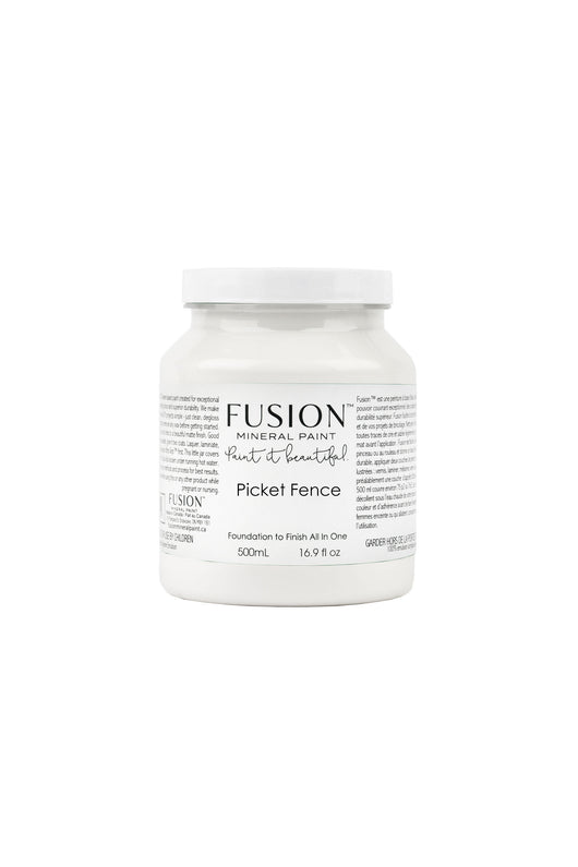 Fusion Mineral Paint Picket Fence White Shop Paint