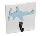 Blue Airplane Single Wall Hook