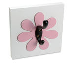 Flower wall hook, dark pink kids room