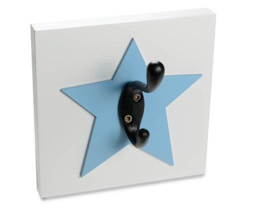 Star Wall Hook, nursery and kids room wall decor, blue