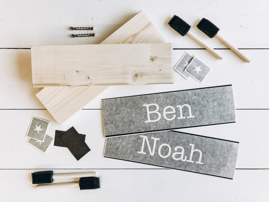 Boys Personalized Name Wood Sign | DIY Kit - Homeworks Etc ®