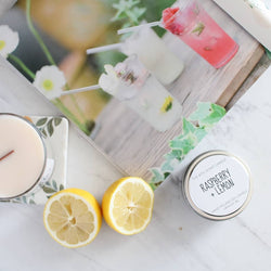 Raspberry Lemon Scented Soy Candle | The 6th Scent Candle Co. - Homeworks Etc ®