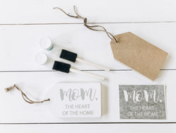DIY Mom heart of the home Wood Tag | DIY Kit - Homeworks Etc ®