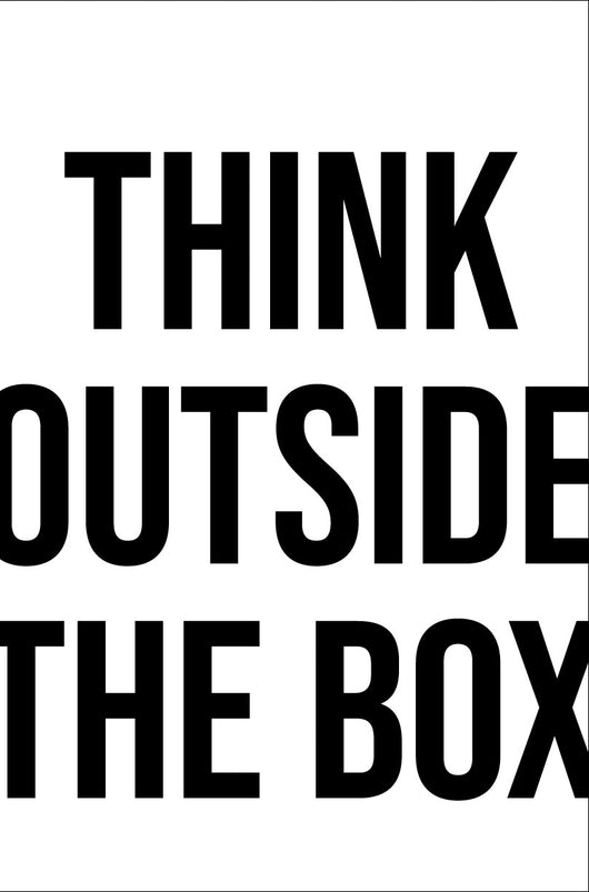 Think Outside of the Box Stencil - Homeworks Etc ®