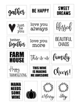 Stencils Designs for Wood Tags - Homeworks Etc ®