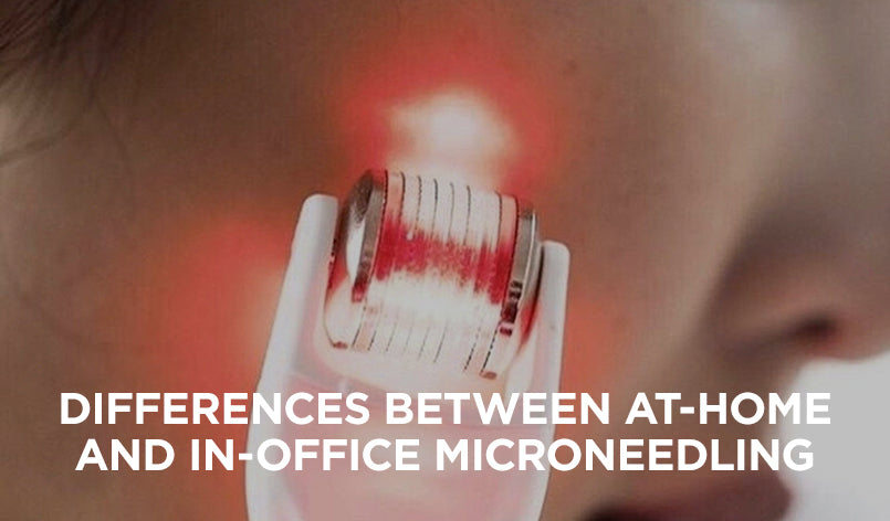 Differences between at-home and in-office microneedling