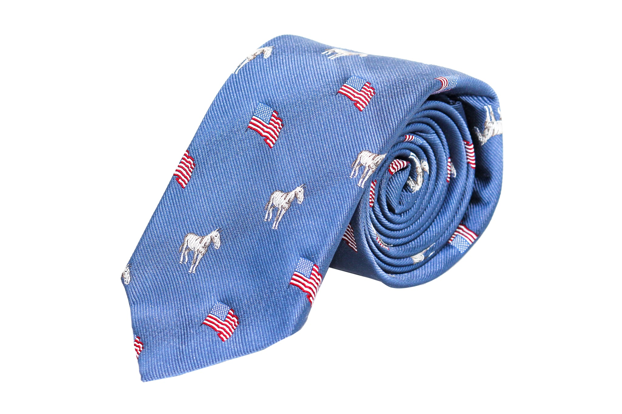 Blue with Horse and American Flag