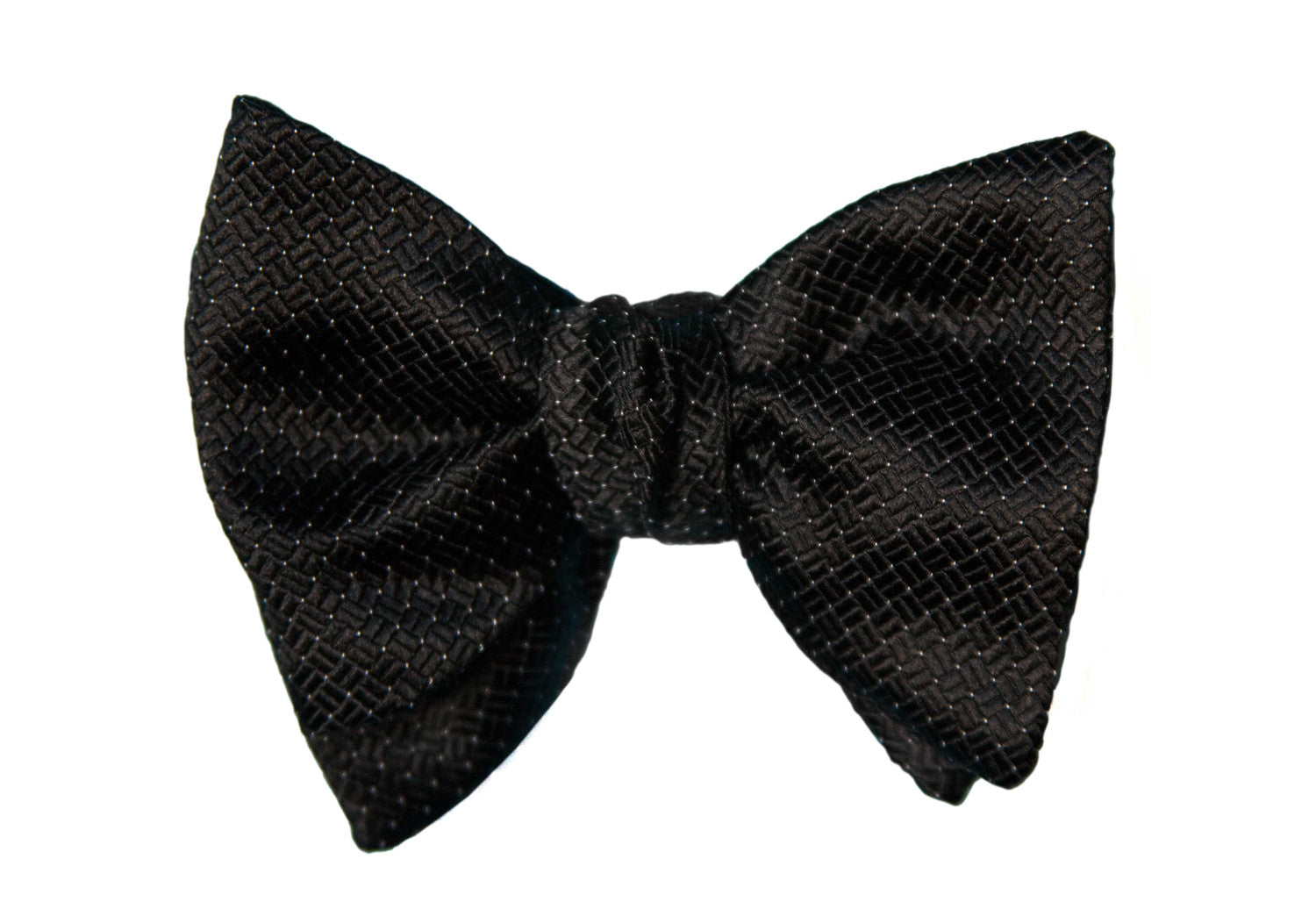 Black Textured Pin Dot Formal Bow Tie