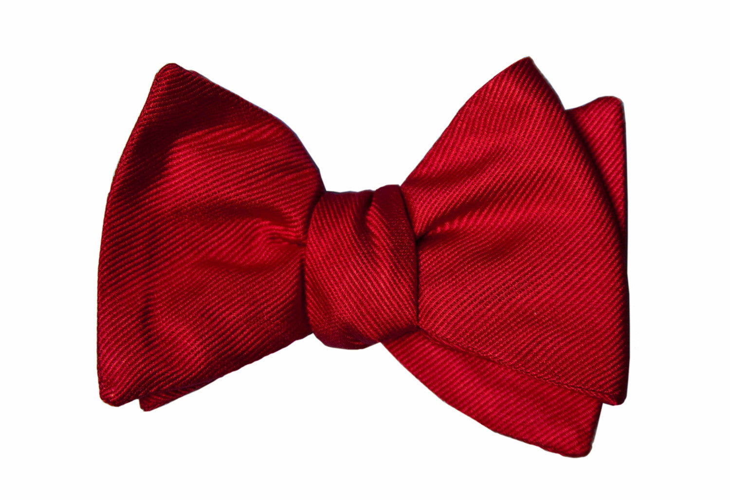 6284686d39f4 Red Solid Grosgrain Bow Tie