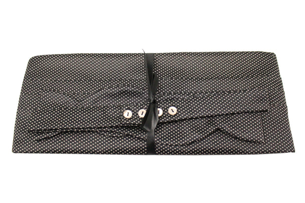 Black with White Dots Cummerbund Set