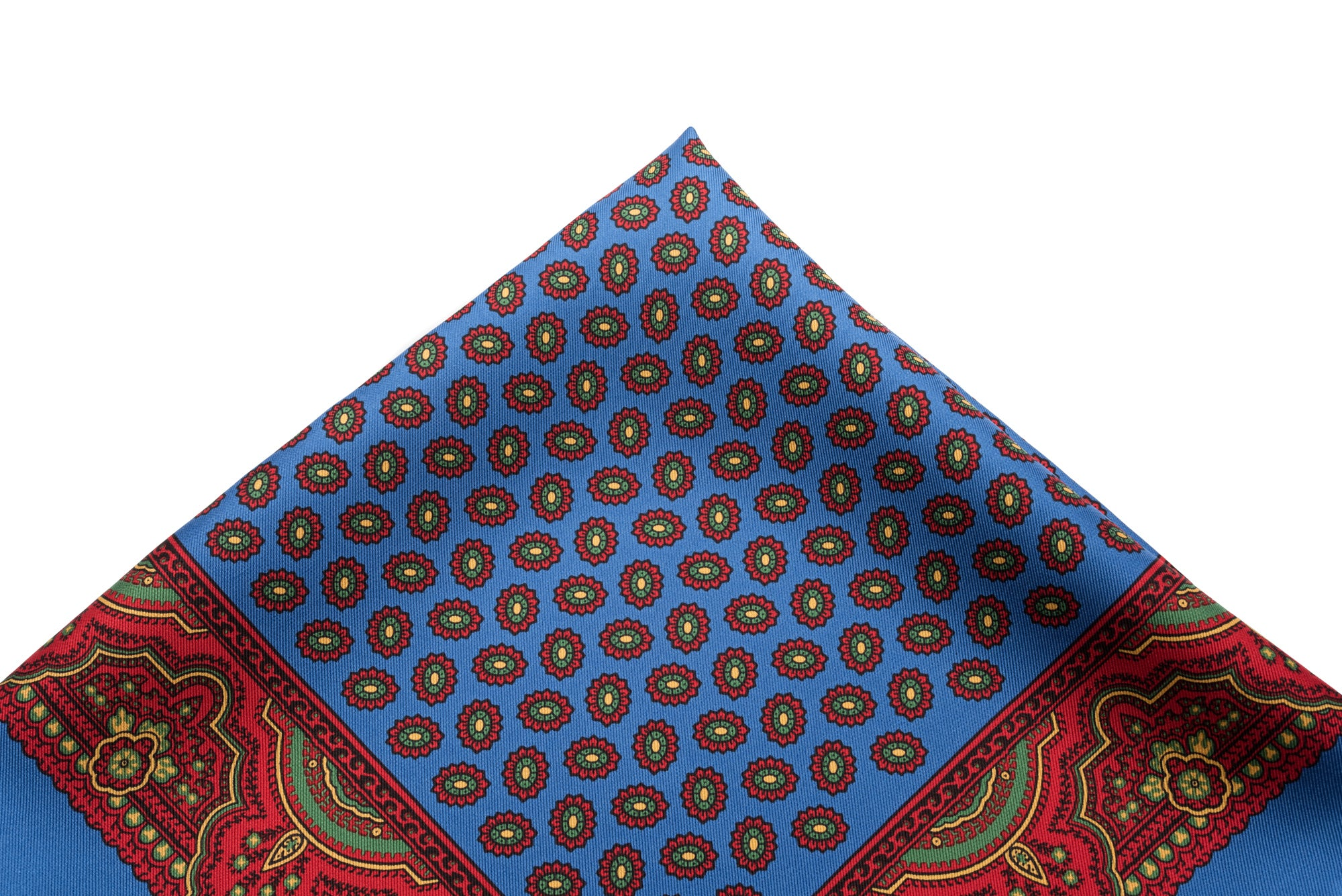 Pocket Square Blue - Red Neat