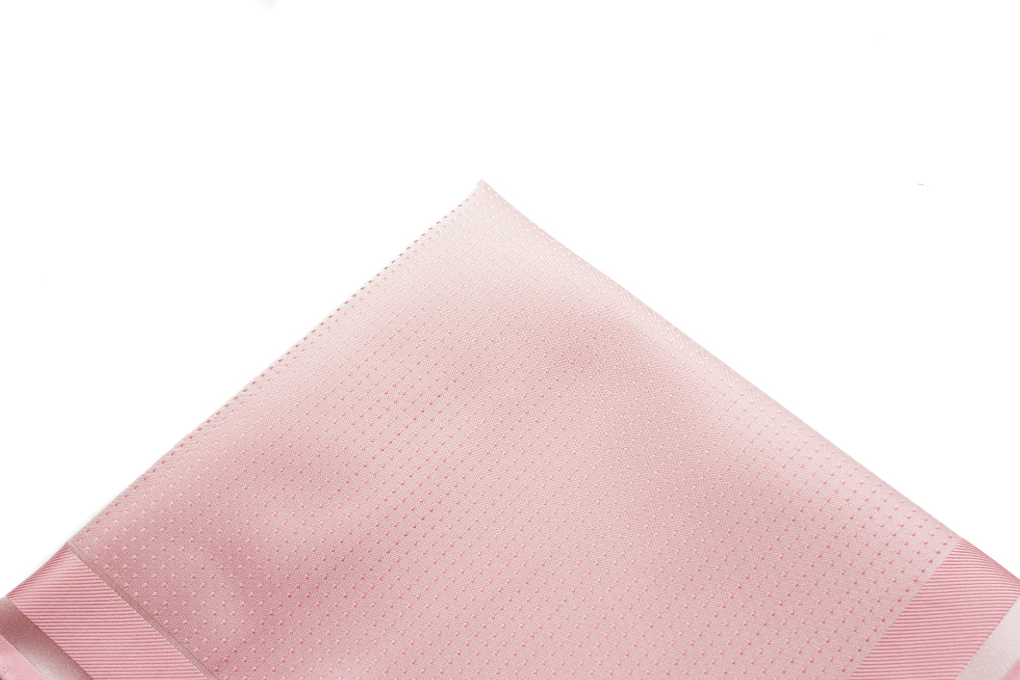 Pocket Square Pink - White Woven