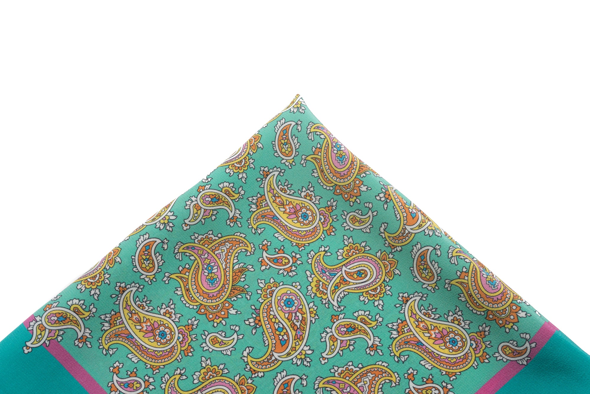 Pocket Square Teal -  Paisley