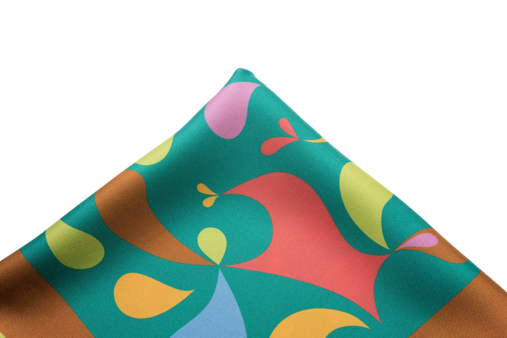 Pocket Square Teal - Geo Drops